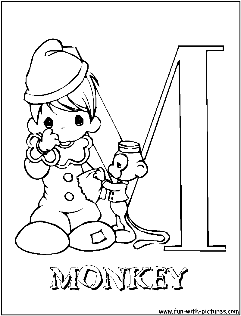 Precious Moments Alphabet A Z Coloring Pages
