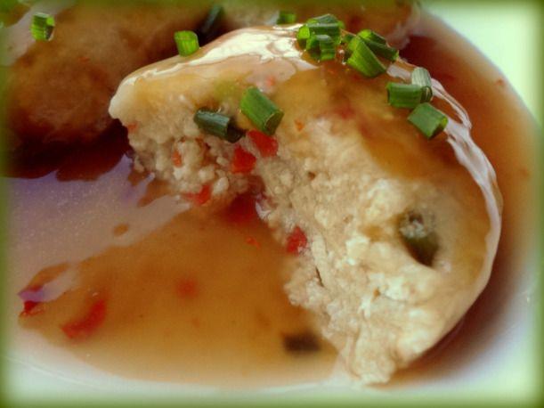 delicious tofu and veggie dumpling (easy Japanese recipe)