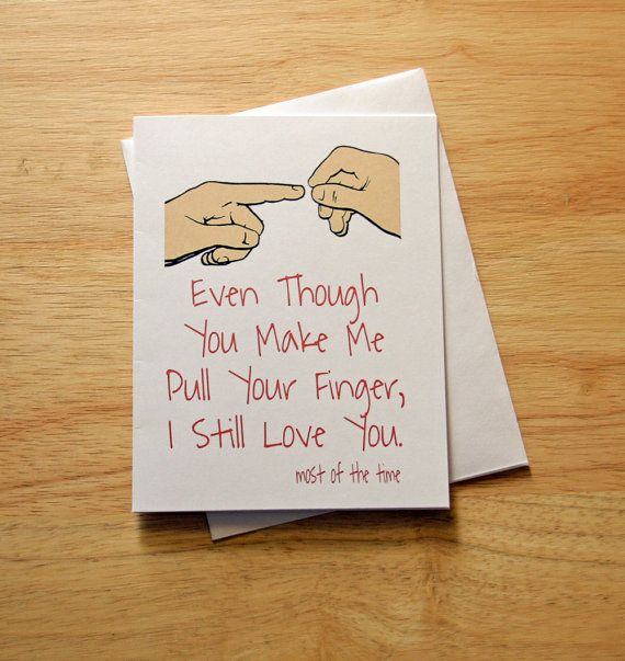 Over 100 Fathers Day Gift Ideas: Boyfriend Gift, Dad's Birthday, Fart Card, Naughty Card