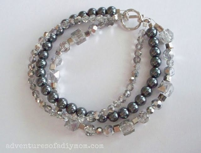 DIY three strand bracelet