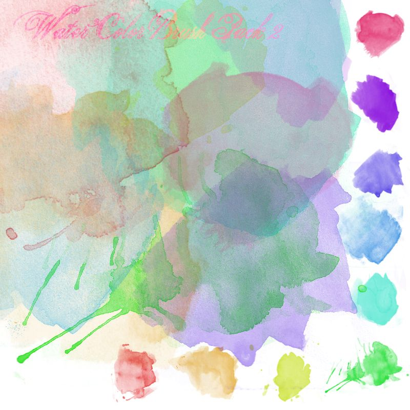Love These Watercolor Brush Pack 2 By Youstolemysoul2 Deviantart