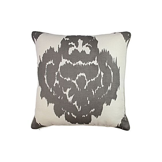 Cause a stir of tribal trends in your exuberant décor with the plush Greenwich Ikat Cushion from One Duck Two.