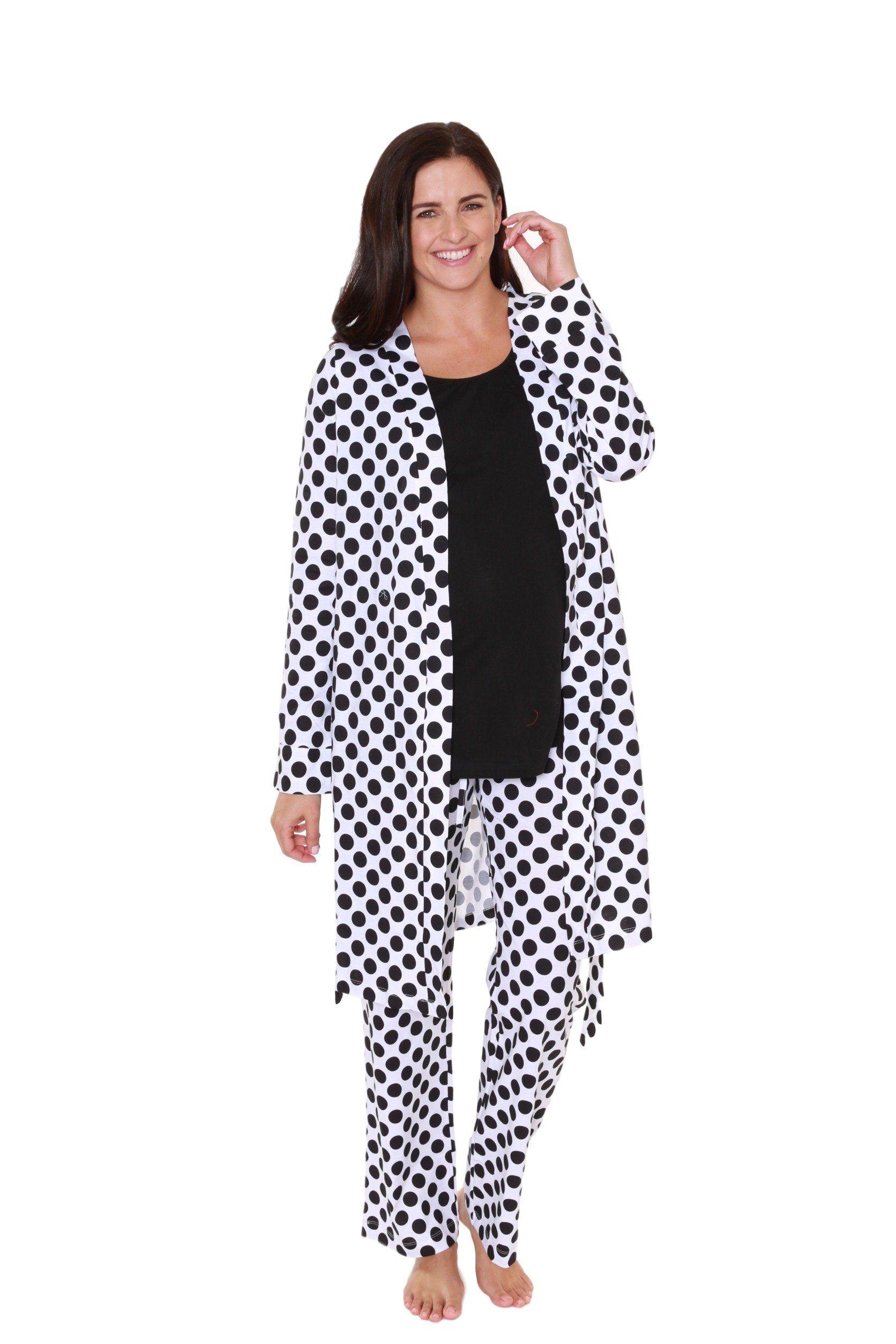 3c9e476f39dc1 Baby Be Mine Maternity Nursing Pajama & Maternity / Delivery / Nursing Robe  Set (Medium