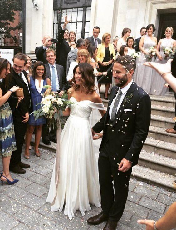 Boho Off the Shoulder Wedding Dress Wedding Dresses, Chiffon Ruched Bodice Long Wedding Dress, Long Wedding Gown Bridal Dress