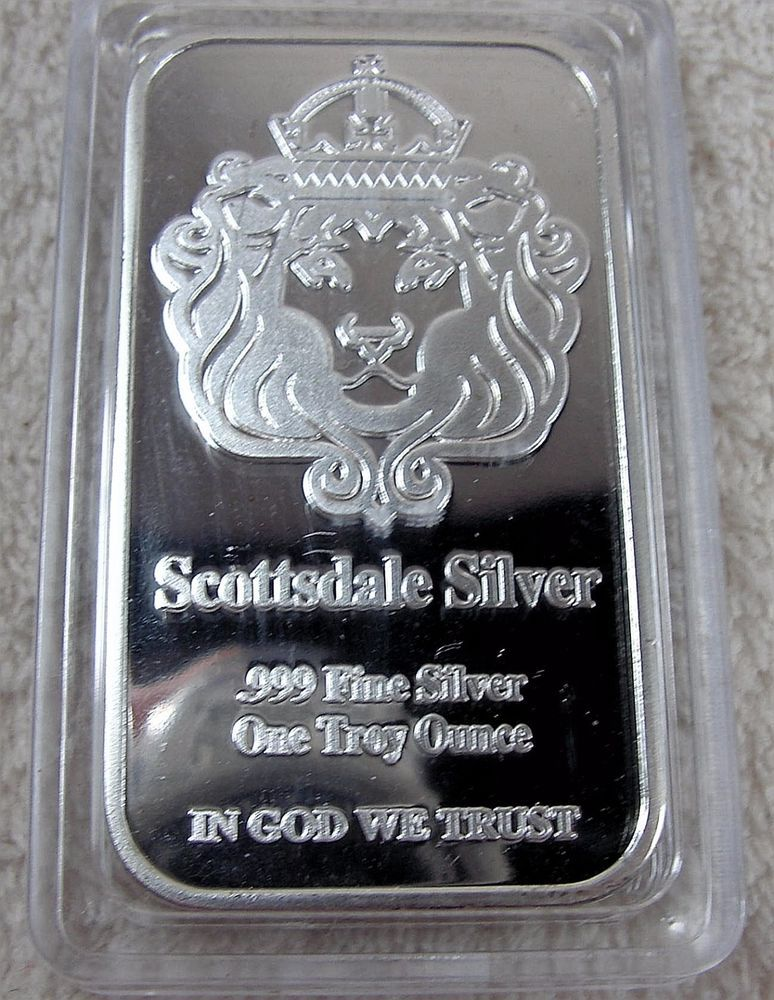 1 Oz The One Silver Bar By Scottsdale Silver 999 Fine Silver Coins Paper Money Bullion Silver Ebay Silver Bars Fine Silver Silver
