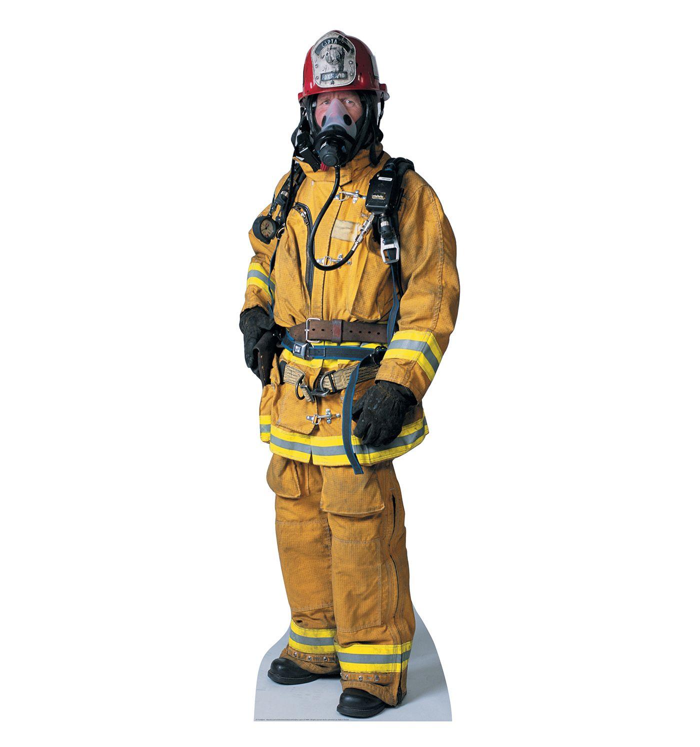 Firefighter Cardboard Cutout Advanced Graphics Firefighter Life Size Cardboard Cutouts