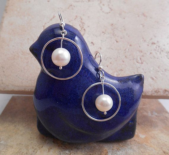 These Sterling Silver and Pearl earrings are very versatile. Great for just kicking around, the office or the special night out!  Click to view on my Etsy site or contact me directly at ByEJewelry@gmail.com.  E-283.  $27