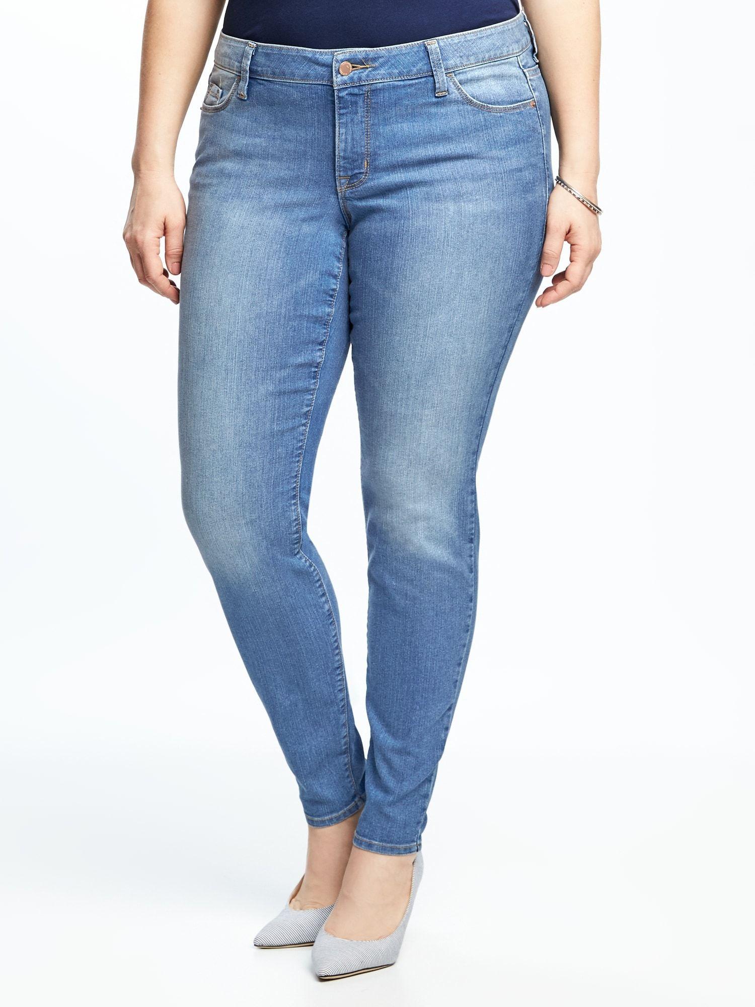 f2bb72c38c Mid-Rise Plus-Size Super Skinny Ankle Jeans
