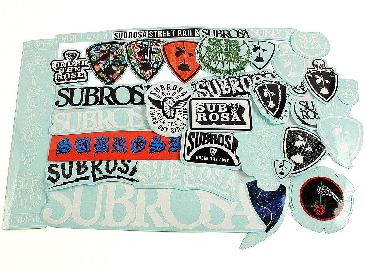 Subrosa Bikes 2017 Stickerset | kunstform BMX Shop & Mailorder - worldwide shipping