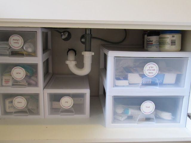 Everyday Organizing Making The Most Of Under Your Bathroom Sink Under Bathroom Sinks Sink Storage Bathroom Cabinet Organization