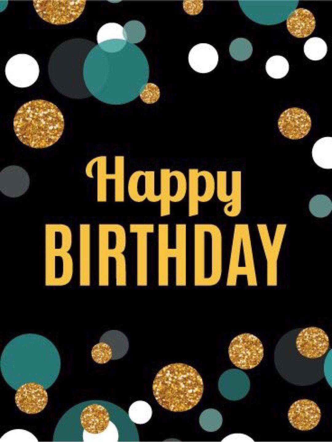 Birthday polka dots with images happy birthday man