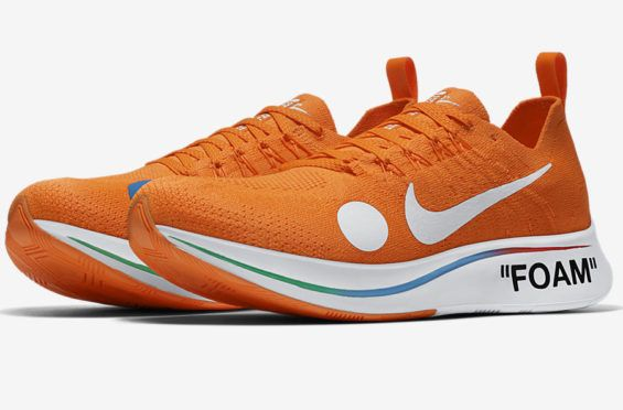 9883cbe7adc5 Official Images  OFF-WHITE x Nike Zoom Fly Mercurial Flyknit Total Orange  The OFF
