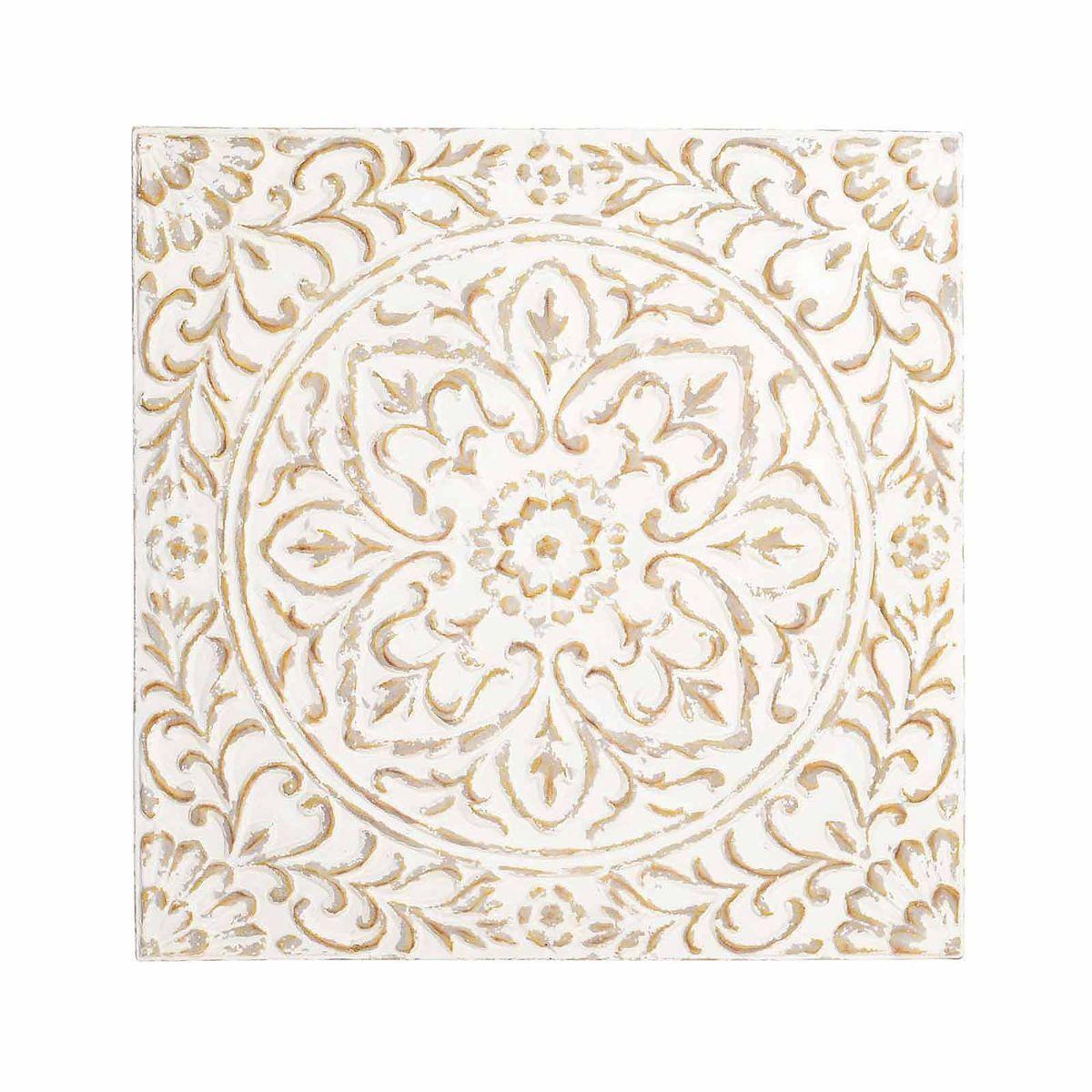 Stunning Wanddeko Ornament aus Metall ca x creme Depot DE