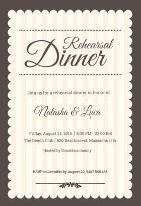 graphic relating to Free Printable Rehearsal Dinner Invitations referred to as Stamped Rehearsal Meal - Rehearsal Supper Celebration Invitation