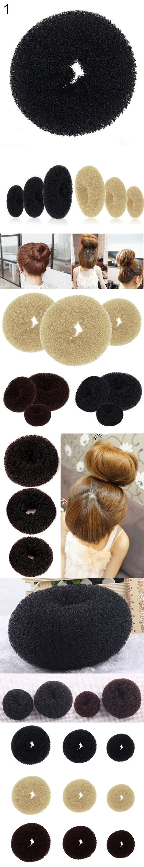 Hairstyler Stunning Hot Women Magic Blonde Donut Hair Ring Bun Former Shaper Hair Styler