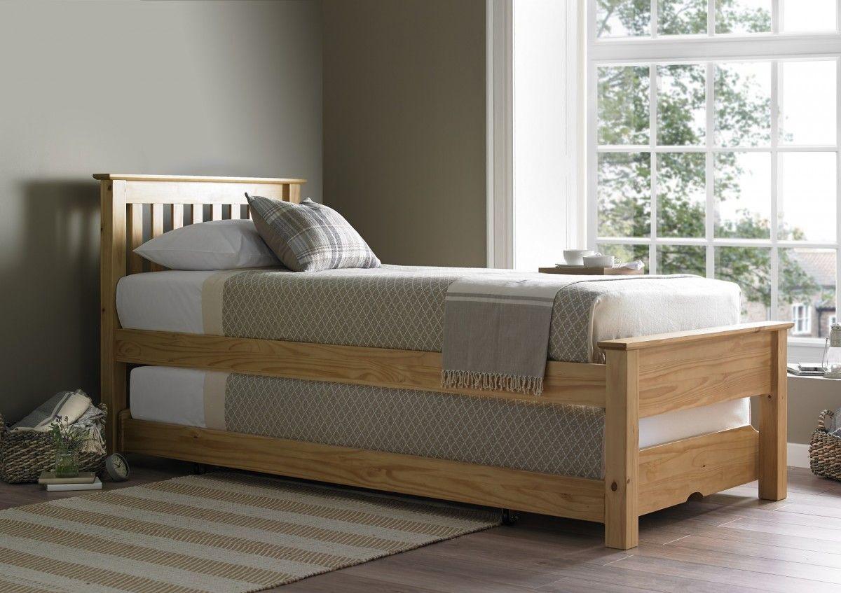 Denver Guest Bed Natural Light Wood Guest Bed Frame Only