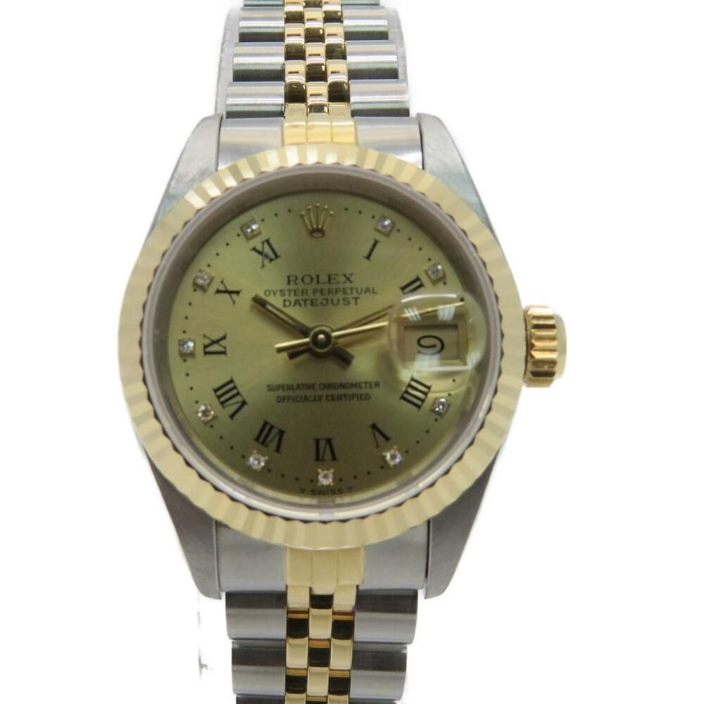 wholesale dealer 33ec2 5045e Rolex Datejust Watch 69173G 18K Yellow Gold Automatic Silver ...