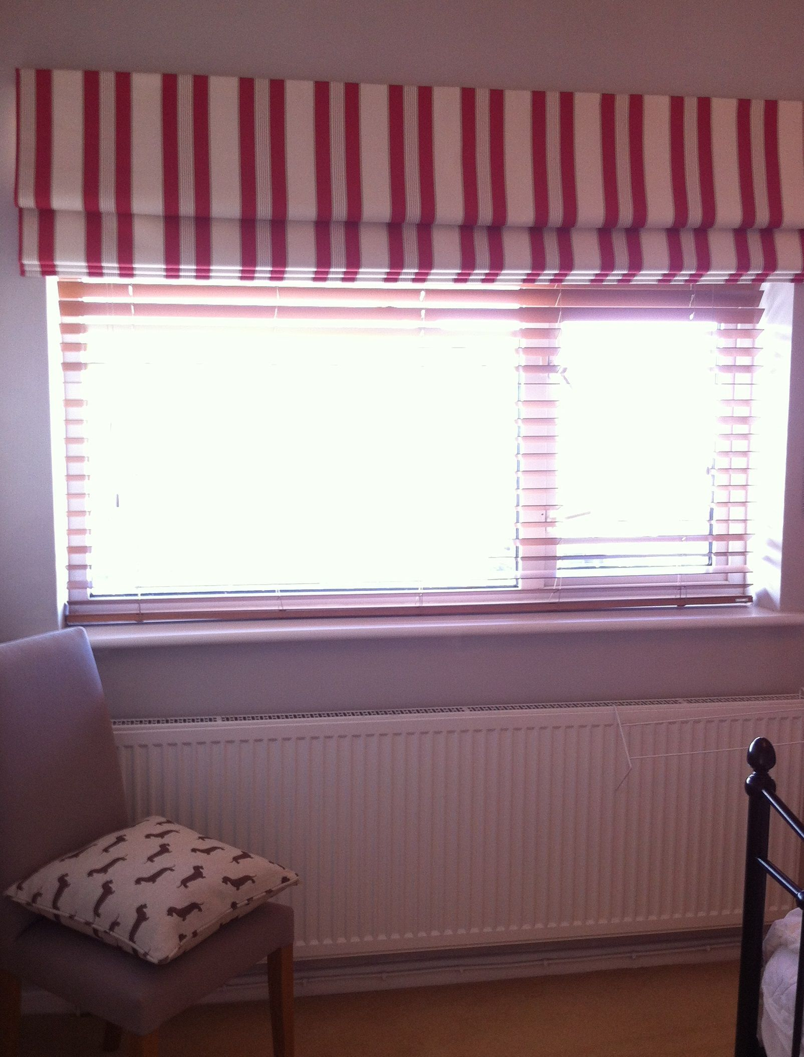 Roman Blind In A Stripe From The Ticking Stripes Collection By Clarke Clarke Home Interior Design Home Decor Home Decorators Collection