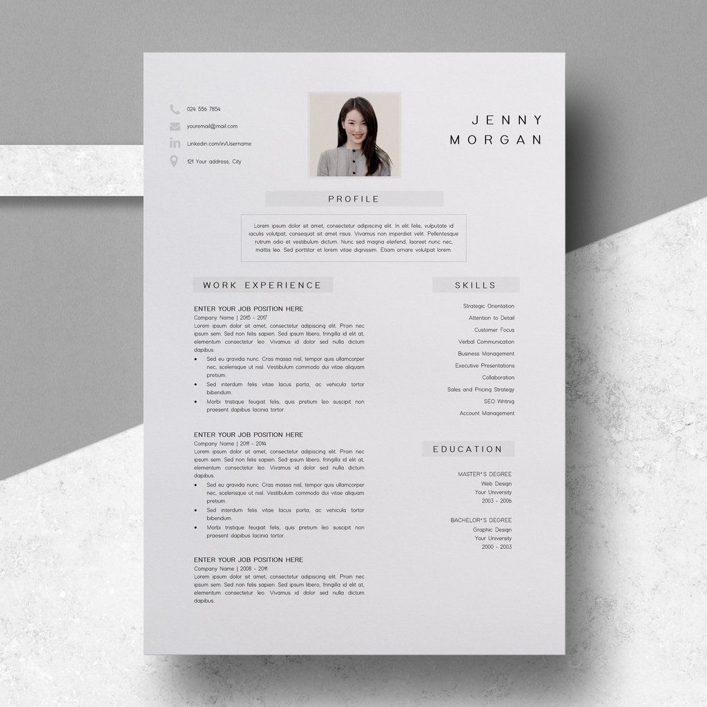 Resume Template PDF CV Resume Sample Jenny