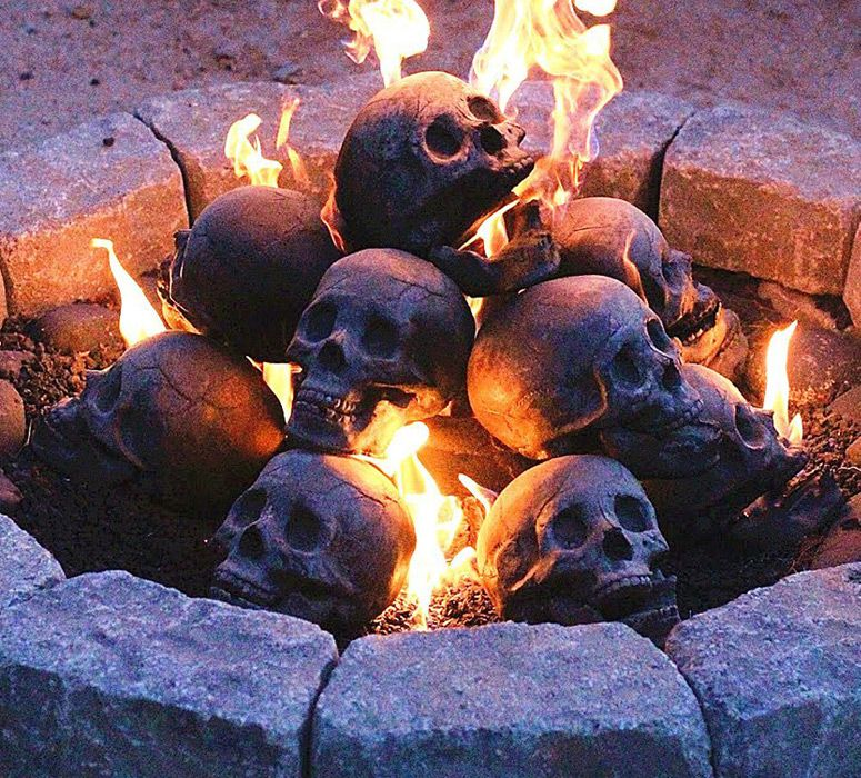Photo of Fire Pit Skull Logs