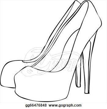 shoes heels drawing. line drawings of shoes - google search heels drawing