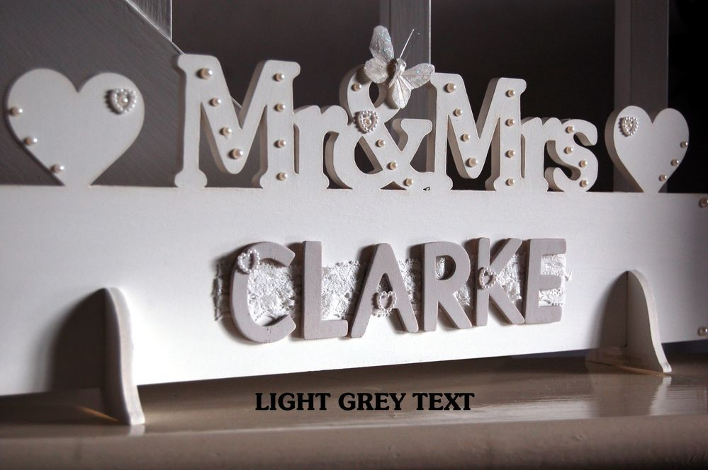 Details About Mr & Mrs Top Table Wedding Wooden Decoration