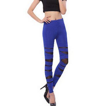 New Spring Fashion Bandage Women Legging Fitness Feminina Super Elastic Slim Sexy Mesh Lace Leggings