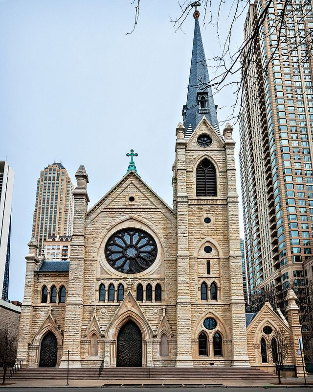 holy name cathedral  1875   front  735 n state st  near