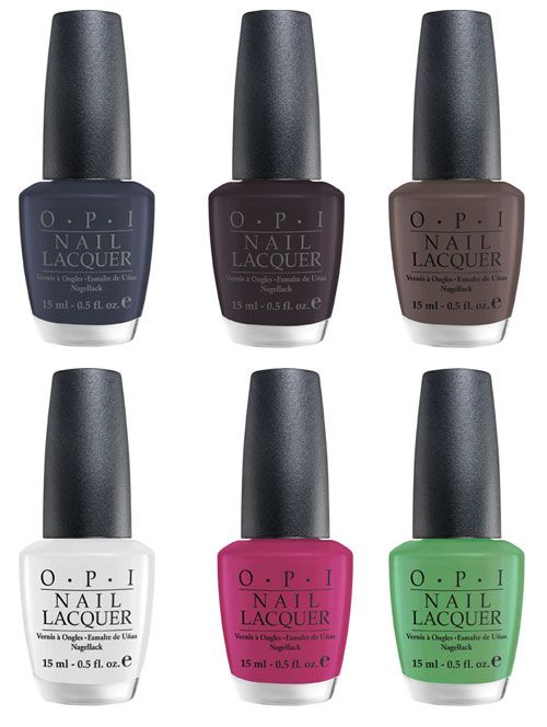 Opi Matte Collection 2009 Cc Gittih Rossnt Dashy Y Jumbo Jenny