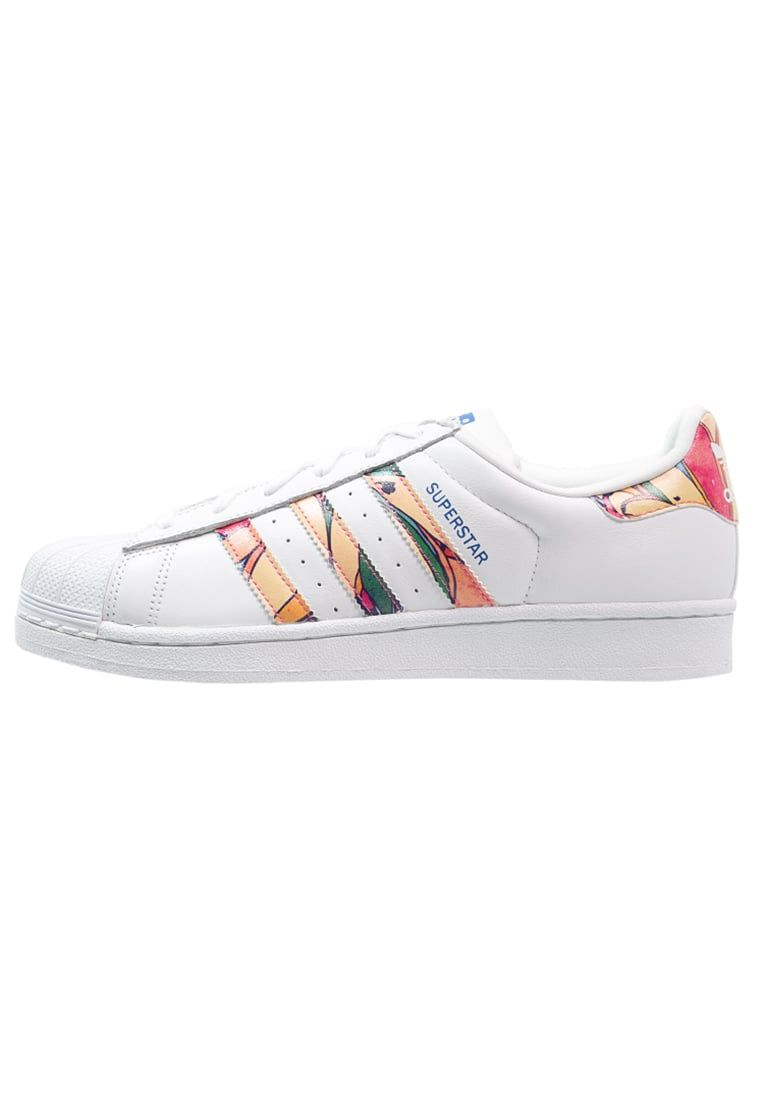 Baskets basses adidas Originals SUPERSTAR - Baskets basses - white/lab blue  blanc: 100