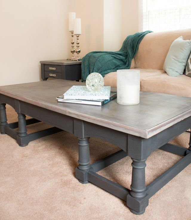 French Linen Chalk Paint Coffee Table: Chalk Painted Furniture By Color - GREY Chalk Paint