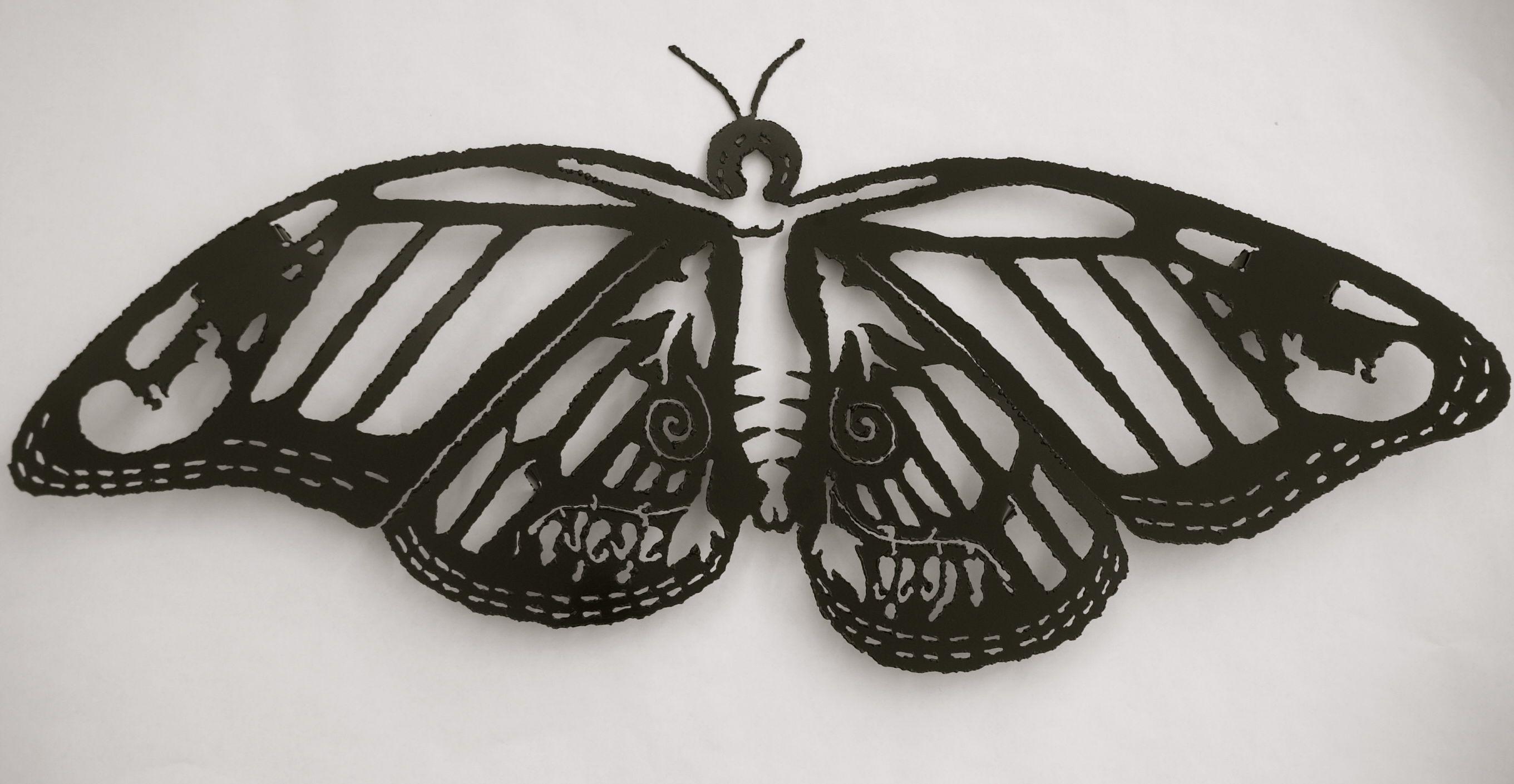 Plasma Cut Steel Butterfly