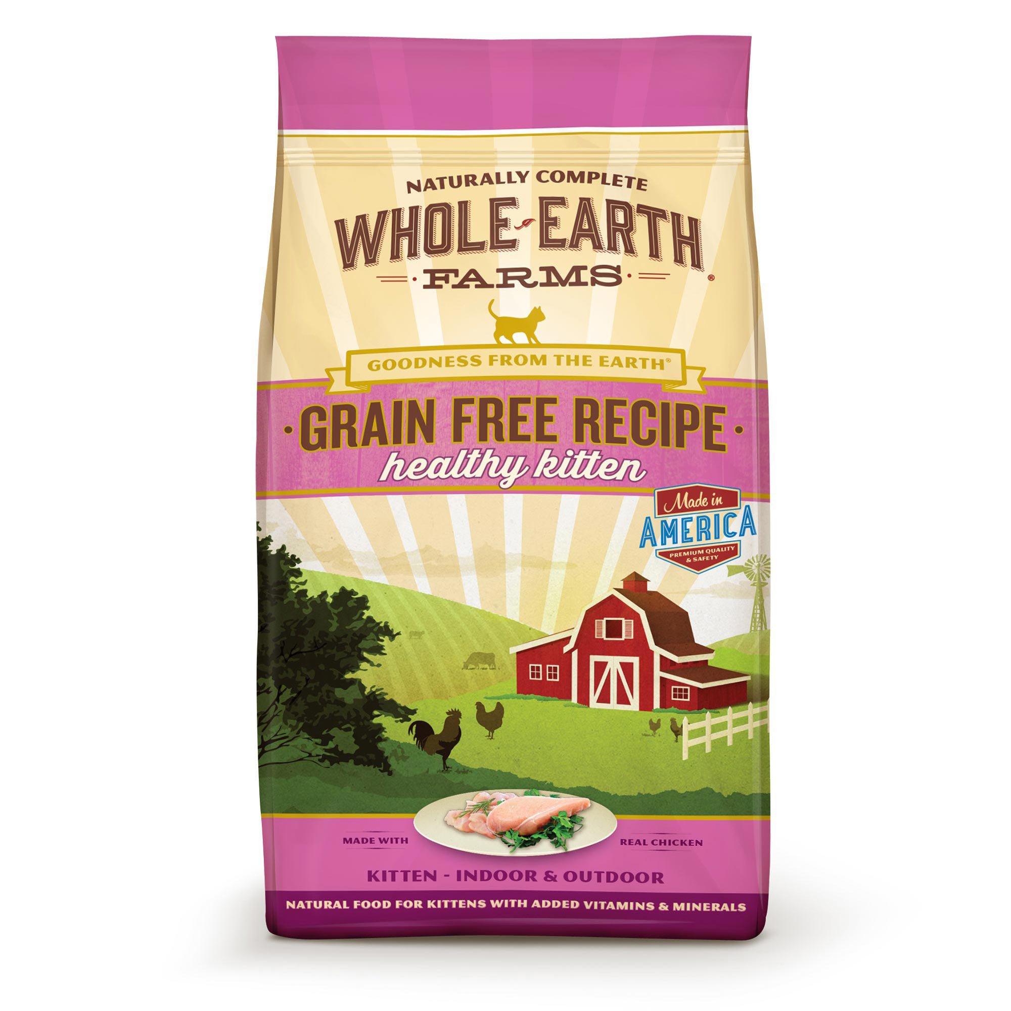 Whole Earth Farms Grain Free Real Chicken Kitten Food 2 5 Lbs Dry Cat Food Kitten Food Grain Free Recipes