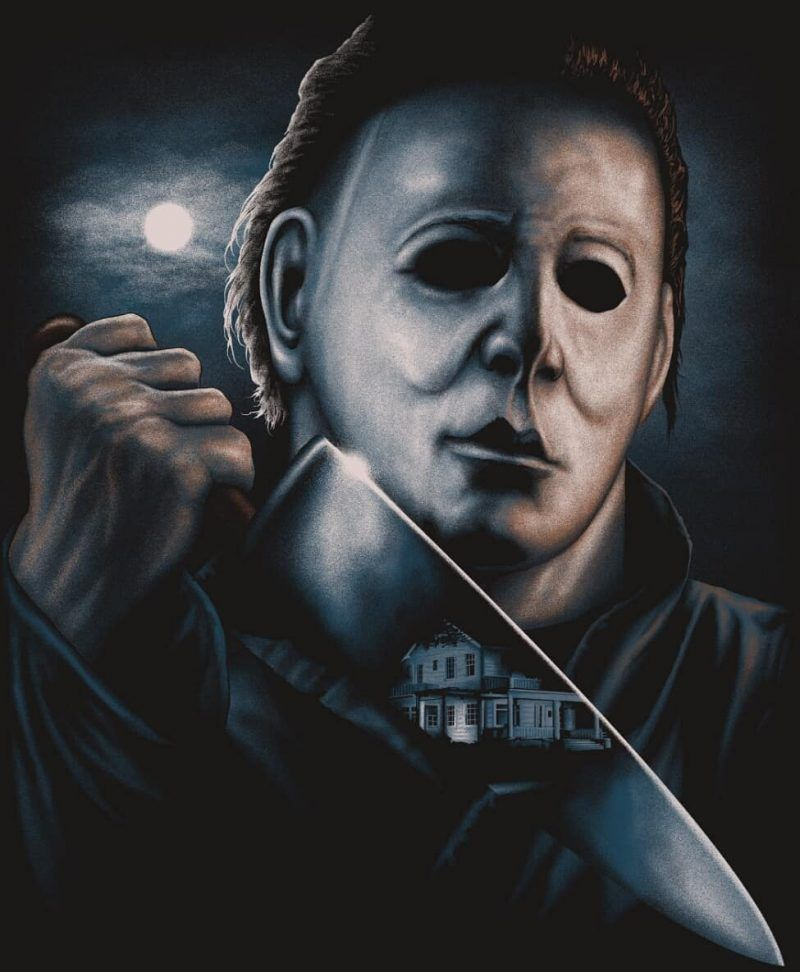 Officially Licensed Halloween 1978 The Art Of Steven Luros Holliday Michael Myers Michael Myers Halloween Horror Artwork