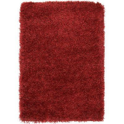 Unique Loom Luxe Solo Red Area Rug Rug Size: