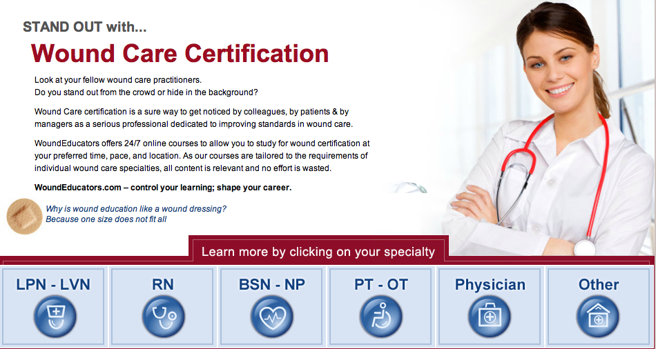 Stand Out With Wound Care Certification Woundeducators Offers 24