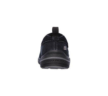 Skechers Men's Harper Delen Memory Foam Relaxed Fit Moc Toe Slip On Shoes (Black) - 12.0 M