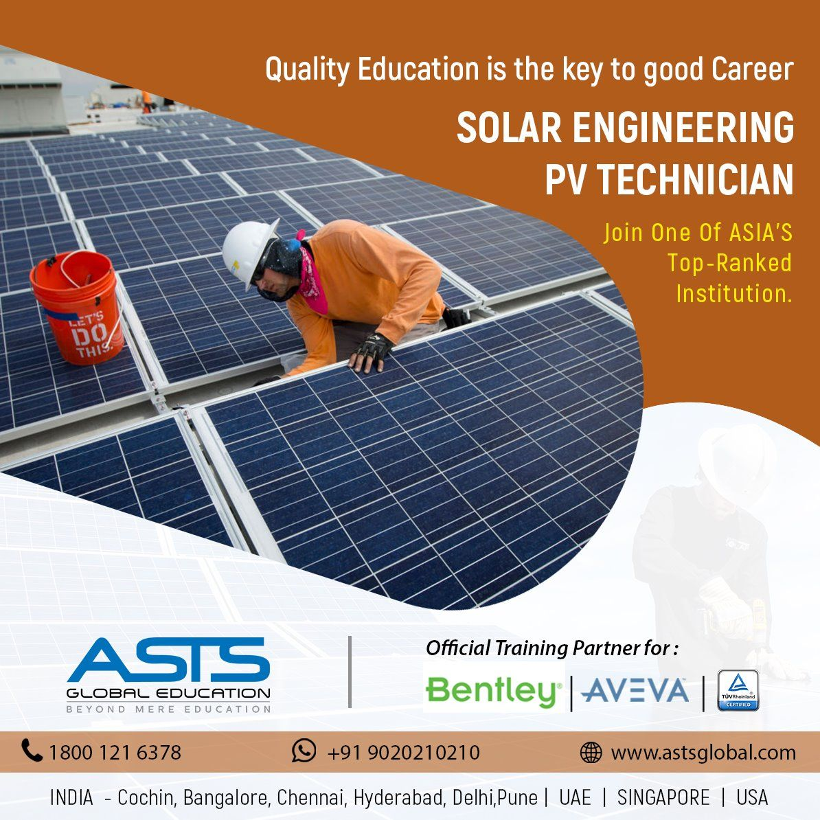 Get certified in Solar Engineering PV Technician course