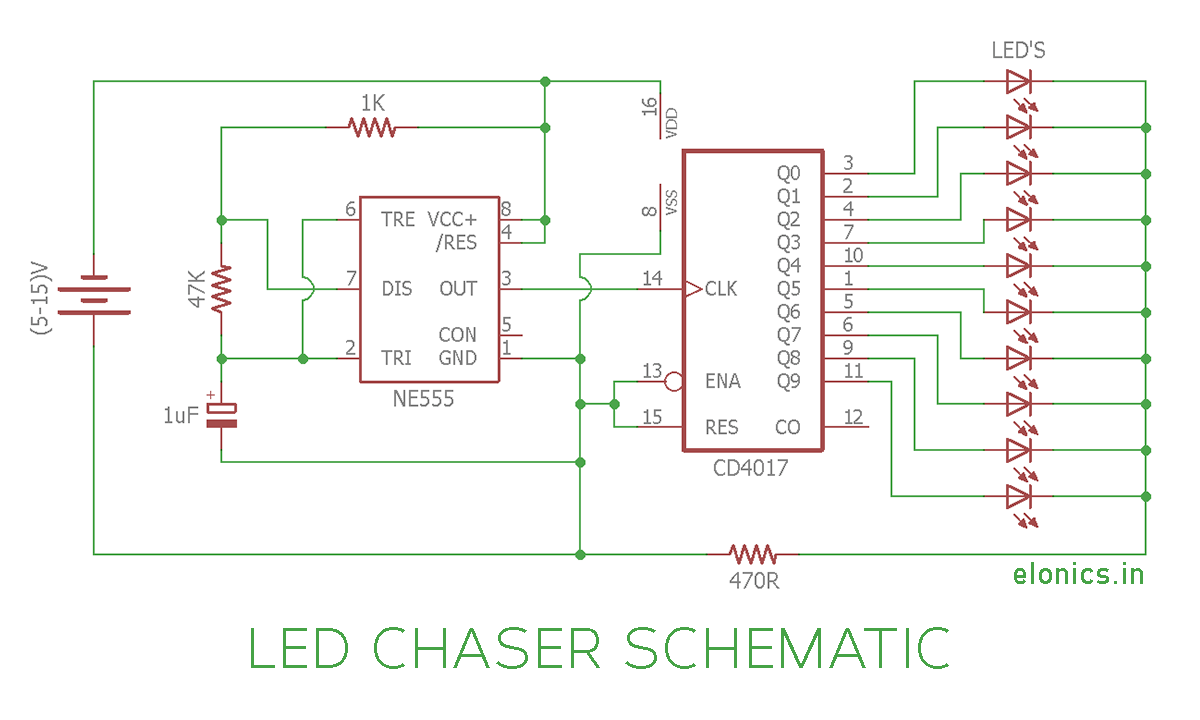 medium resolution of 4017 led knight rider running light circuit diagram circuit wiringcircuit diagram led chaser wiring diagram view