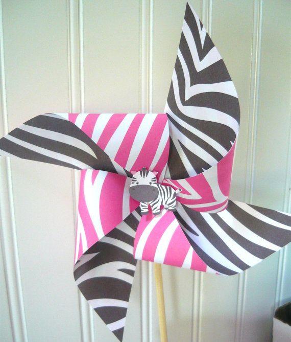 zebra pinwheels instant download zebra birthday decorations zebra