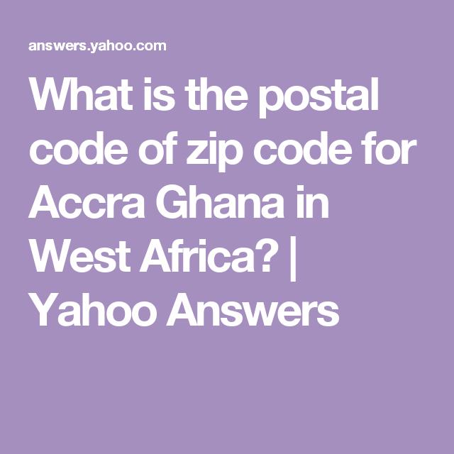 Zip code of ghana accra