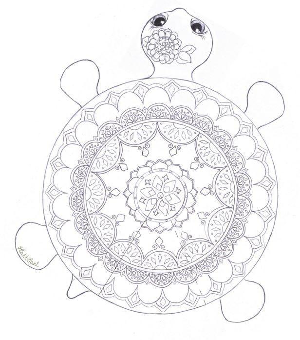 Mandala Turtle Coloring Page Mandala A Colorier Coloriage