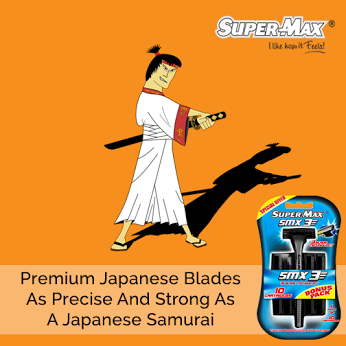 High quality blades made from premium Japanese steel will fight stubble and ingrown hair to give you a smooth shave. #ILikeHowItFeels   #SuperMax   #SuperShave
