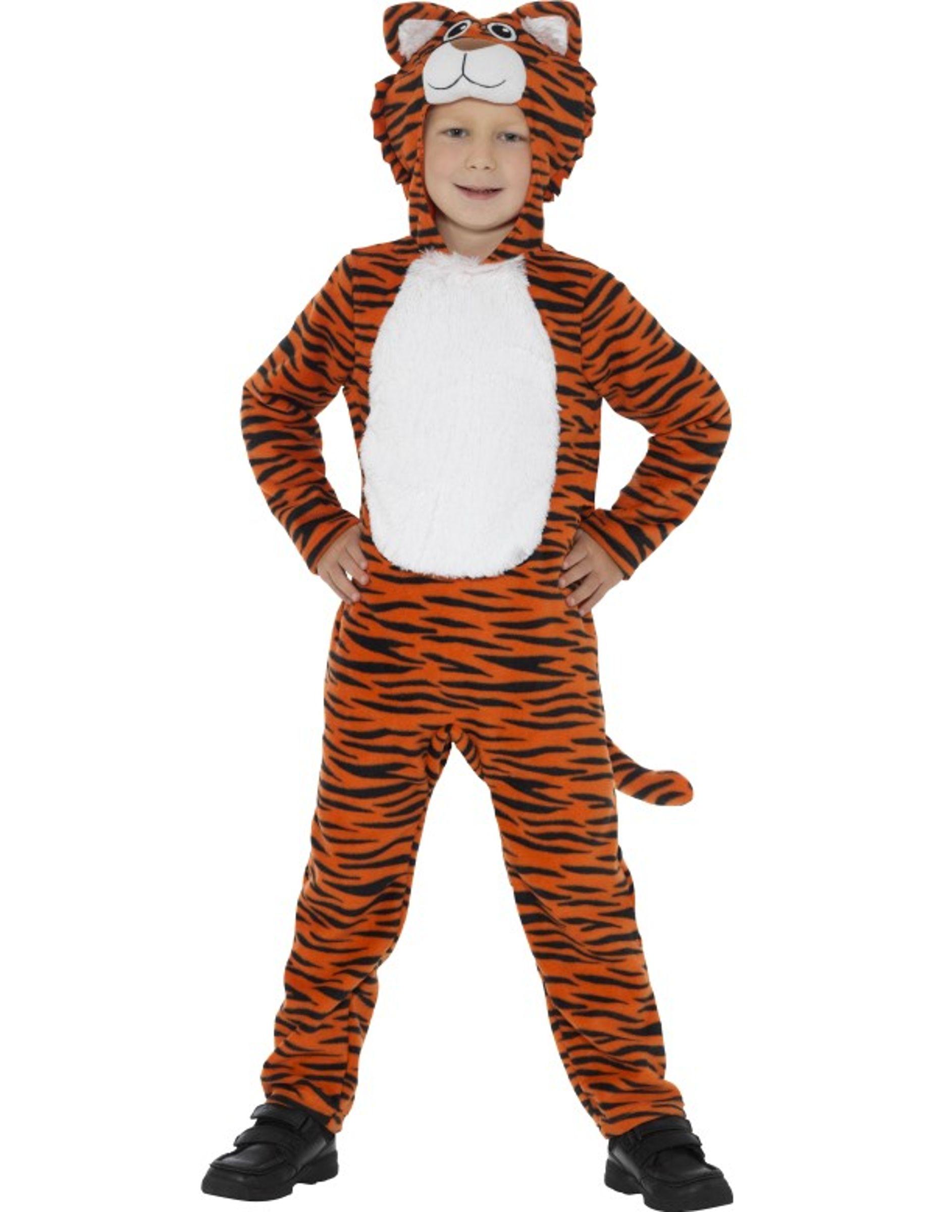 3b01ff9150b Tijger onesie voor kinderen: Dit tijger kostuum voor kinderen bestaat uit  een onesie met staart
