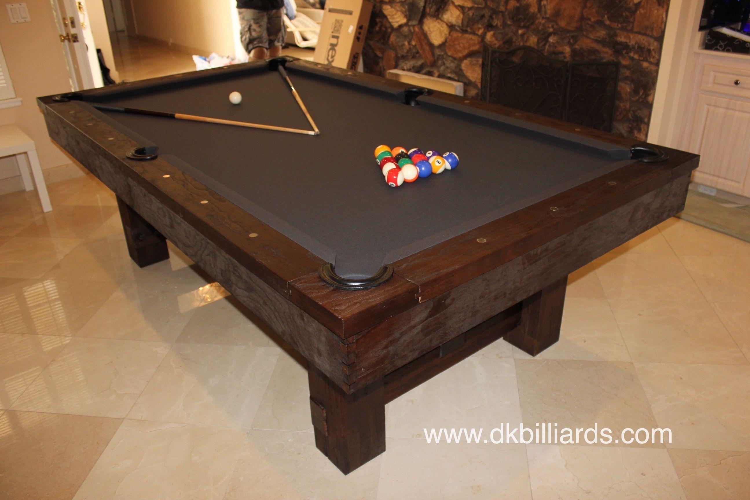 Dark Rustic Pool Table Pool Table Pool Tables For Sale Dining Room Pool Table