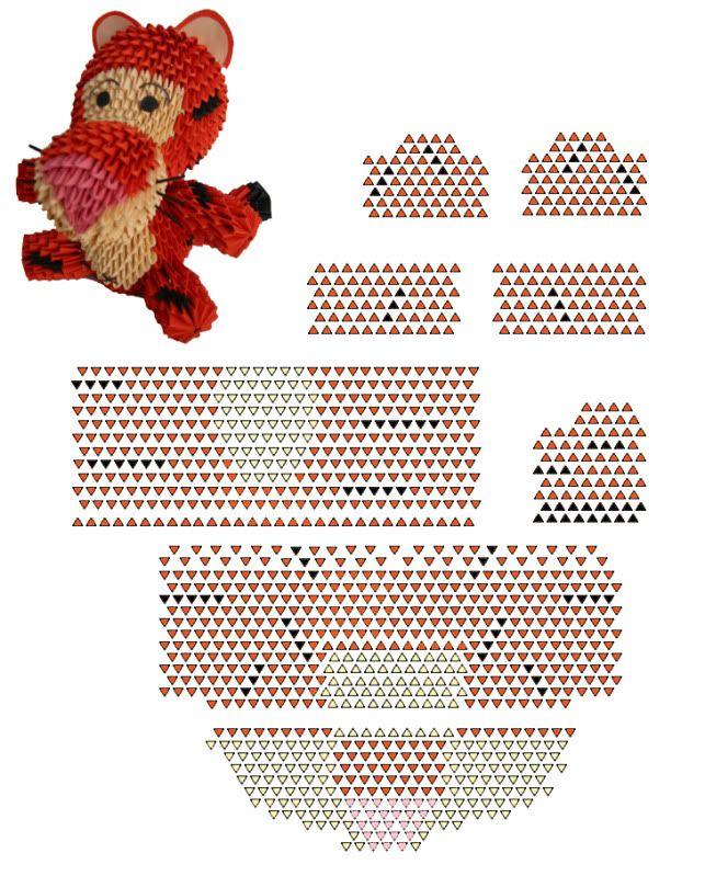 3d Origami Tiger Diagram Basic Guide Wiring Diagram