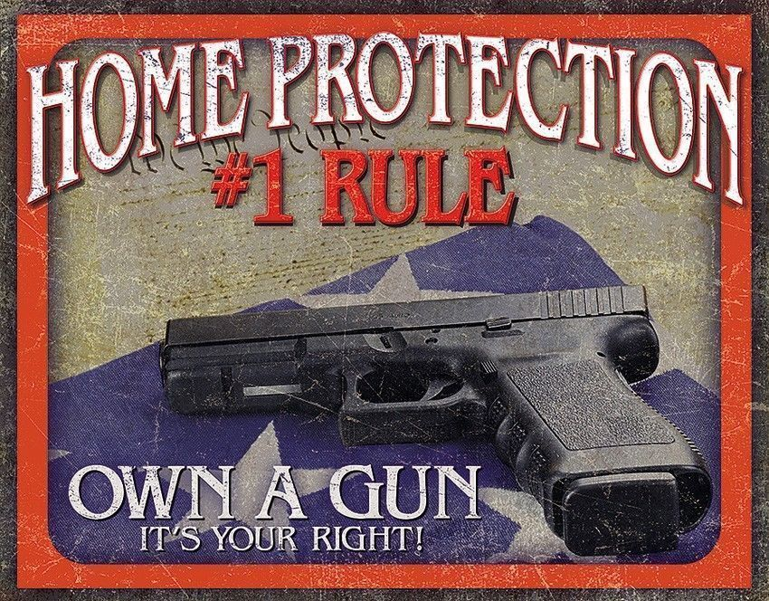If Found Here Gun Warning TIN SIGN funny no trespassing hunt metal poster 1951