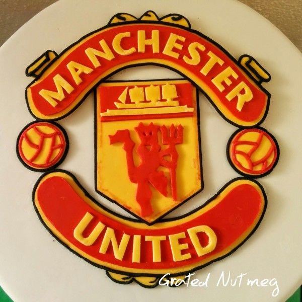 Fondant Manchester United Logo Cake Topper Tutorial Grated Nutmeg In 2020 Manchester United Birthday Cake Cake Logo Cake Topper Tutorial