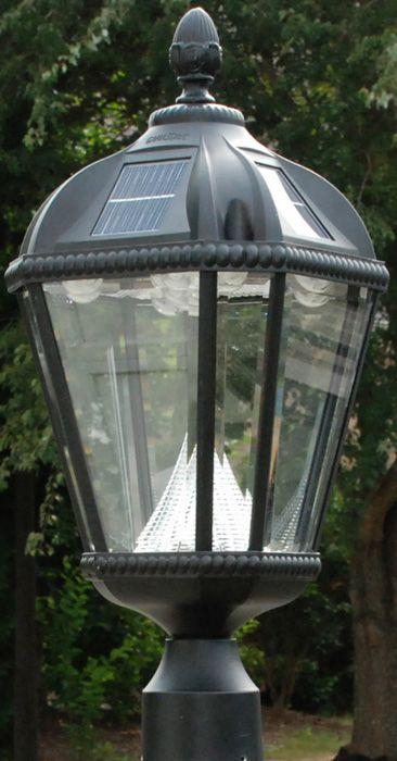 Gama Sonic Gs 98f Royal 5 Light Black Outdoor Security Lighting Delmarfans Dreamlighting Solar Lamp Post Lamp Post Lights Outdoor Lamp Posts
