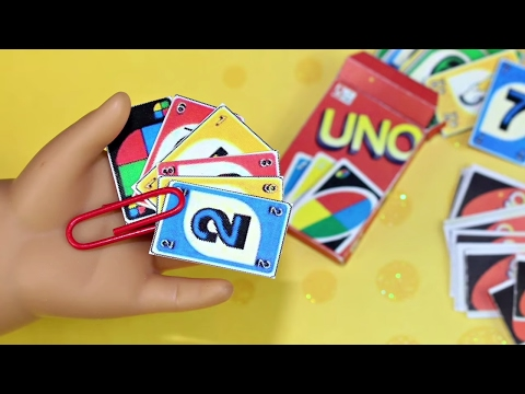 DIY American Girl Doll UNO Game #americangirldollcrafts Doll Crafts #americangirlhouse